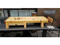 Portable Work Table Made From Solid Wood Ideal For Indoor Modelling Record v175 wood workers vice