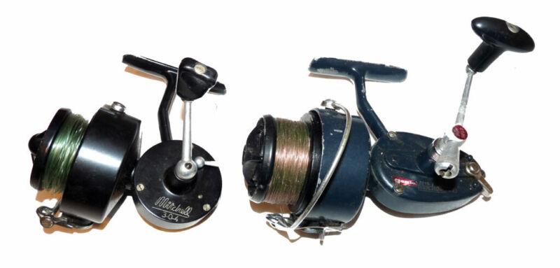 Garcia Mitchell 410 high Speed vintage spinning reel & Mitchell 304 OUTLET