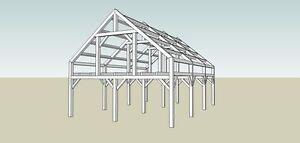 Timber Frame(shell) Structure 24' x36' x12' Gatineau Ottawa / Gatineau Area image 7