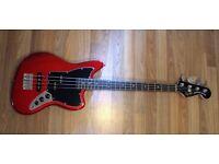 Squier Jaguar Short Scale Bass and Fender Rumble 15 amp
