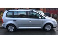 VW Touran TDI, MPV, 7 seater, silver grey