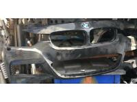 Bmw 3 Series 2015 F30 M-Sport front bumper with sensor holes and washer jet holes
