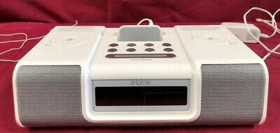 IHome Ih5 Alarm Clock Radio Apple iPod Home System White