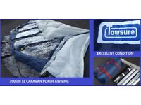 Caravan Porch Awning Towsure 390 Awning Extra Large Great Condition.