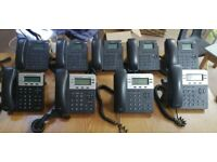 Yealink & Grandstream VOIP office phones (9 phones) plus extra headsets and switches