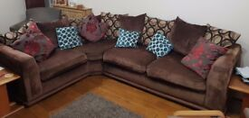 Large L shaped settee. Good ck ditok from a smoke free jpme.