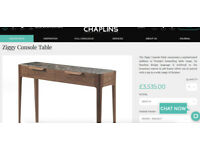 High Quality Italian design Porada console table REDUCED!!