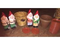 Garden Gnomes and Plant Pots