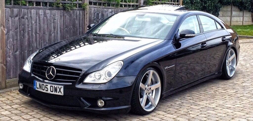 mercedes cls 55 amg 2005 black auto 500bhp lowered on 19 inch oems low tax bracket in. Black Bedroom Furniture Sets. Home Design Ideas