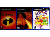 PS2 Games - Beach Bandits Totally Spies The Incredibles The SIMS Reign of Fire