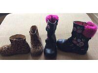 Osh kosh and Next girls boots. Size 7. Beautiful
