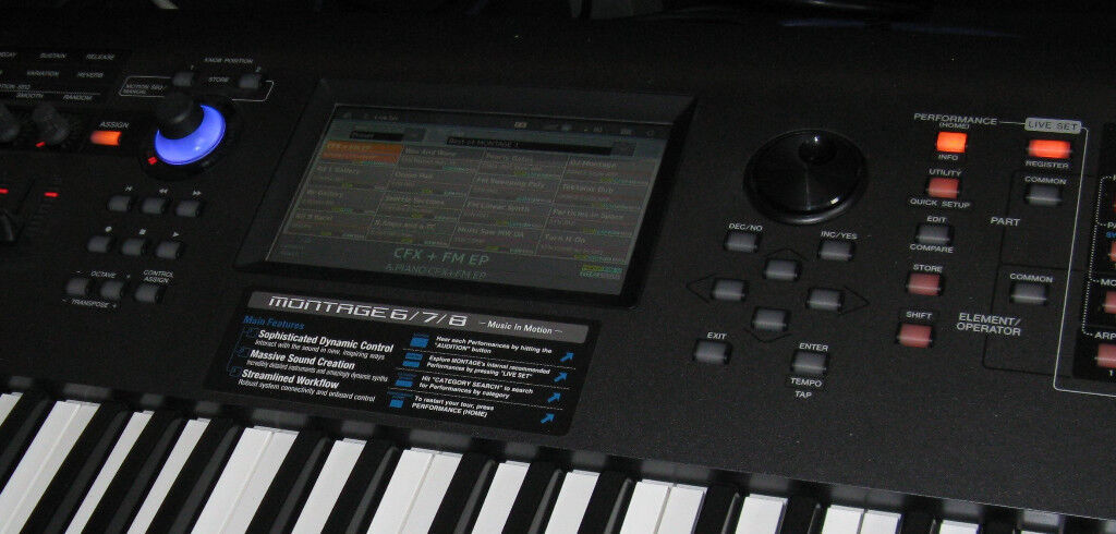 SOLD Yamaha Montage 7 - Studio & Rec £ Discussions on theFretBoard