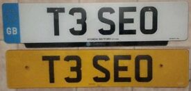 PERSONALISED NUMBER PLATE - T3SEO