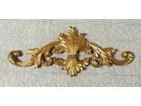 Gold Painted Plaster Wall Hanging