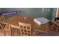 Extender Dining Table and chairs (HALF PRICE ORIGINAL AD)