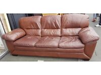 Leather sofa, Sofa, three seater sofa