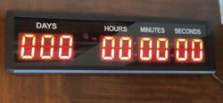 1.8'' LED Countdown Timer Digital Clock Button Count Down/Up Days Event