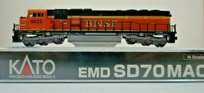 """KATO N Scale  EMD SD70MAC BNSF /""""Swoosh/"""" #9748 # 176-6321"""