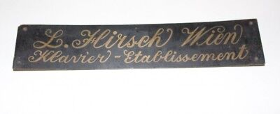 Original Antique Shield Klavierbauer Piano L. Deer Vienna Klavier-Etablissement
