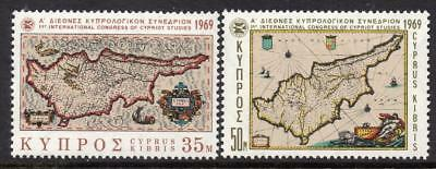 Cyprus MNH 1969 SG329-30 International Congress of Cypriot Studies