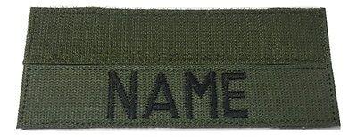 "OD Green Custom Name Tape with Fastener 5"" Length - U.S. Army Military"