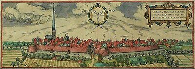 KREMPE - Crempa - Braun-Hogenberg - kolorierter Kupferstich 1588