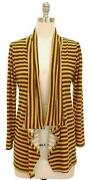 Yellow Striped Cardigan