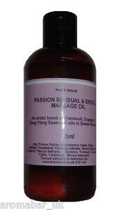 PASSION Massage Oil 125ml Orange Patchouli Ylang Erotic Sensual