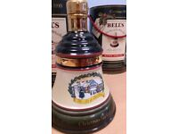 Bells Whisky Xmas Wade Decanter 1990 ( UNOPENED SEAL INTACT ) Tatty box lid otherwise perfect