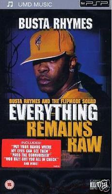 UMD PSP Busta Rhymes `Everything Remains Raw` Neu/New/OVP