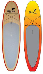 OAHU 9'6 PADDLE BOARD  EN BAMBOO À PAGAIES EN LIQUIDATION !!