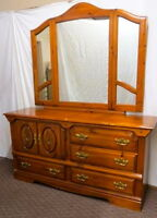 PINE DRESSER with MIRROR (STILL AVAILABLE)