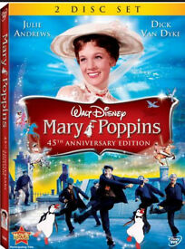 Mary poppins dvd (2 disc edition) also Aladdin etc