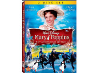 Mary poppins dvd (2 disc edition) also Aladdin