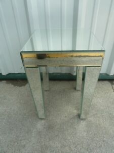 Glass Mirrored End Tables
