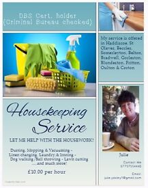 Housekeeper/Cleaner OFFERED