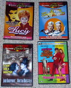 DVD movies:Lucy Show: Laurel&Hardy:Jeckyl&Hyde:Austin Powers
