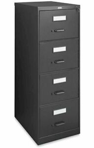 Black 4-Drawer FILE CABINET