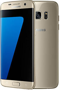SAMSUNG GALAXY S7 EDGE GOLD BLACK SMARTPHONE