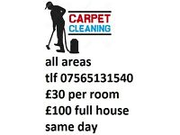 Carpet cleaner all postcodes west yorkshire cover £30 per Room