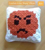Emoji Pillow - Angry Face