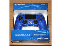 PS4 Dual Shock 4 Controller (v2), Blue - Brand New