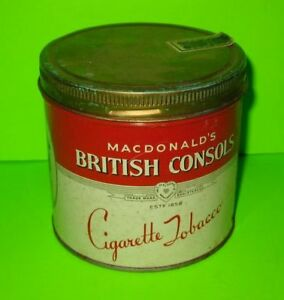 Canne à Tabac British Consols Tobacco Tin Can