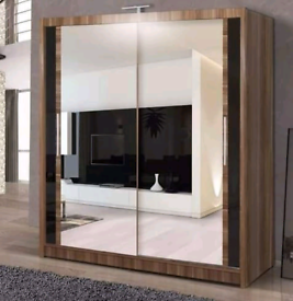 💥💯DOORBUSTER DEALS 2 AND 3 MIRRORED DOORS SLIDING WARDROBES WITH SHE