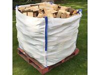 BULK BAG KILN DRY HARDWOOD LOGS BIRCH, ASH OR OAK FIREWOOD £85 INC FREE LOCAL DELIVERY! ORDER TODAY