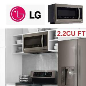 NEW LG BLACK SS 2.2CU FT MICROWAVE LMV2257BD 217998514 OVER THE RANGE STAINLESS STEEL W/EASY CLEAN INTERIOR