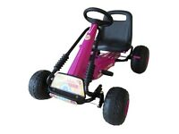 Girls Racing Team Pink Go Kart