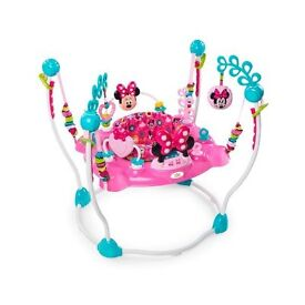 Minnie Mouse Jumperoo pink baby girl bouncer lights & sounds