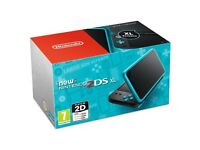 A used NEW Nintendo 2DS XL with 7 boxed games