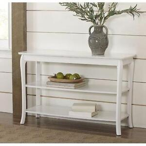Birch Lane Alberts Console Table- White- NEW/BOXED!